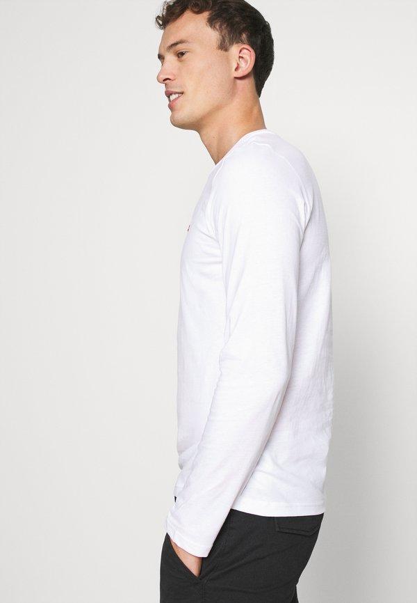 Napapijri SALIS - Bluzka z długim rękawem - bright white/biały Odzież Męska VUQY