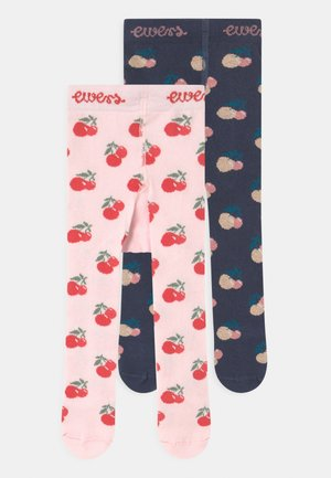 STRAWBERRY 2 PACK - Tights - dark blue/pink