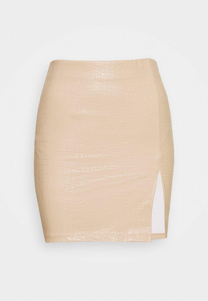 Nly by Nelly - STRUCTURE MINI SKIRT - Pouzdrová sukně - beige