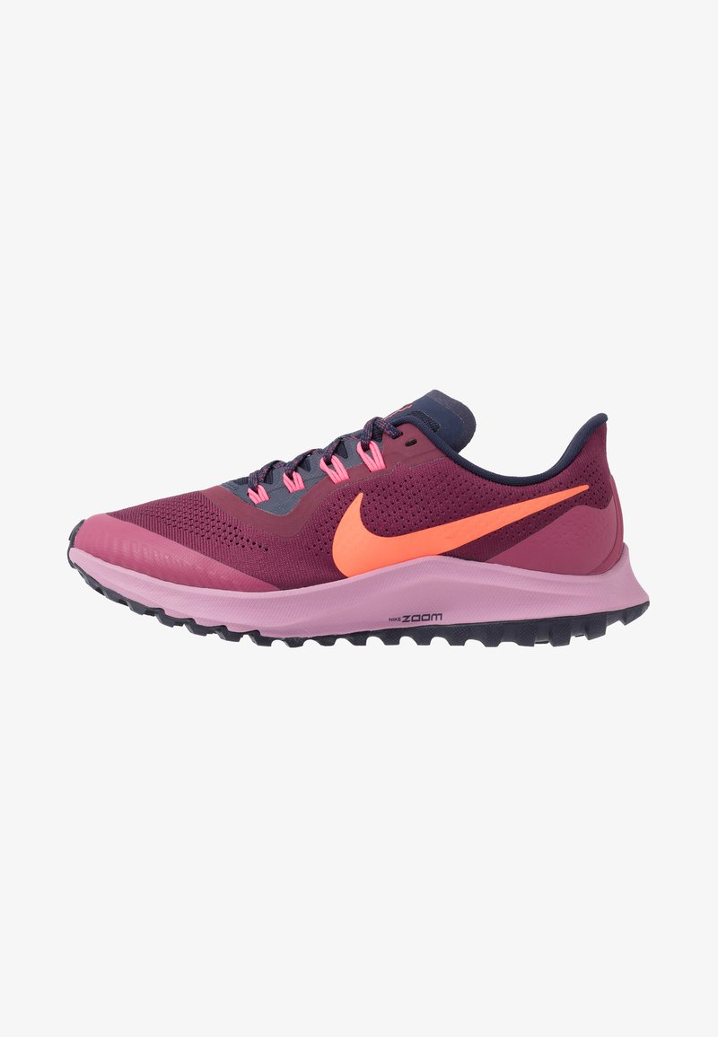 Nike Performance - AIR ZOOM PEGASUS 36 TRAIL - Trail running shoes - villain red/total crimson/blackened blue/frosted plum/mulberry rose/digital pink