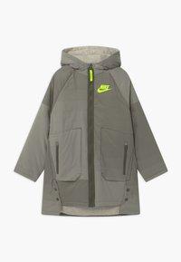 Nike Sportswear - REVERSIBLE - Winter coat - cargo khaki/stone/volt - 0