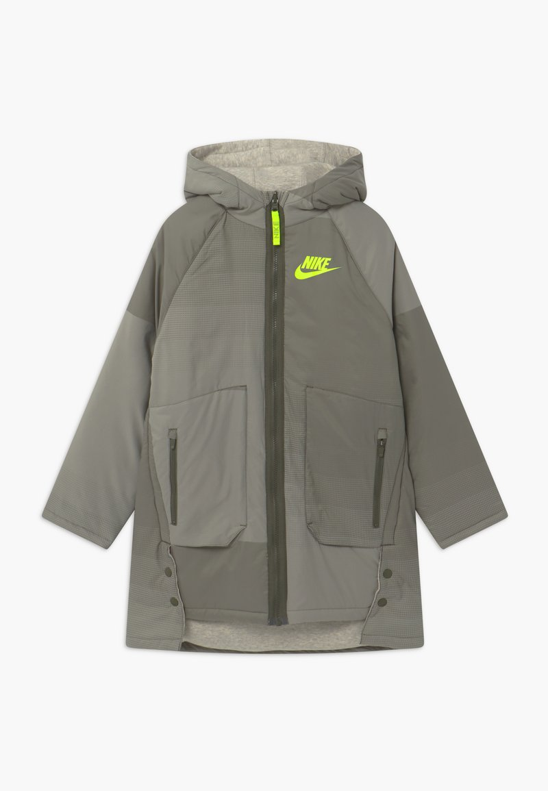 Nike Sportswear - REVERSIBLE - Winter coat - cargo khaki/stone/volt