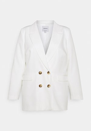 DOUBLE BREASTED - Short coat - white