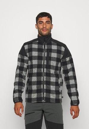 HANISH - Fleecová bunda - black check