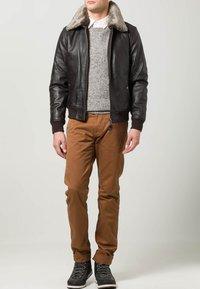 Schott - Leather jacket - dark brown - 1