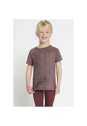 CARLA ACTIVE - T-shirt print - rose brown flowers