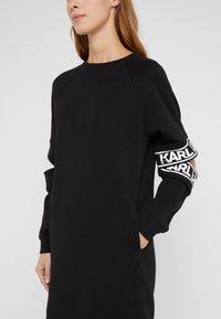 KARL LAGERFELD - CUT OUT SLEEVE DRESS - Day dress - black - 6