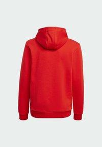 adidas Originals - TREFOIL HOODIE UNISEX - Huppari - red/white - 1