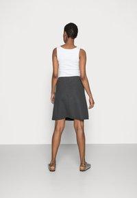 Freequent - Áčková sukně - dark grey melange - 2