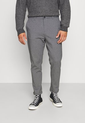 SUPERFLEX CROPPED PANTBIG - Trousers - grey mix