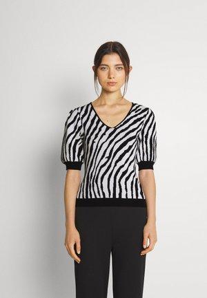 SUNNY - Print T-shirt - offwhite/noir