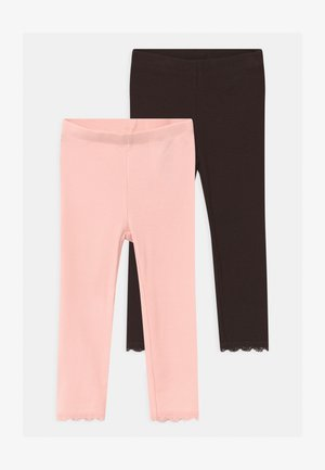 NBFNIKITA BABY 2 PACK - Leggings - Trousers - peachskin/mole