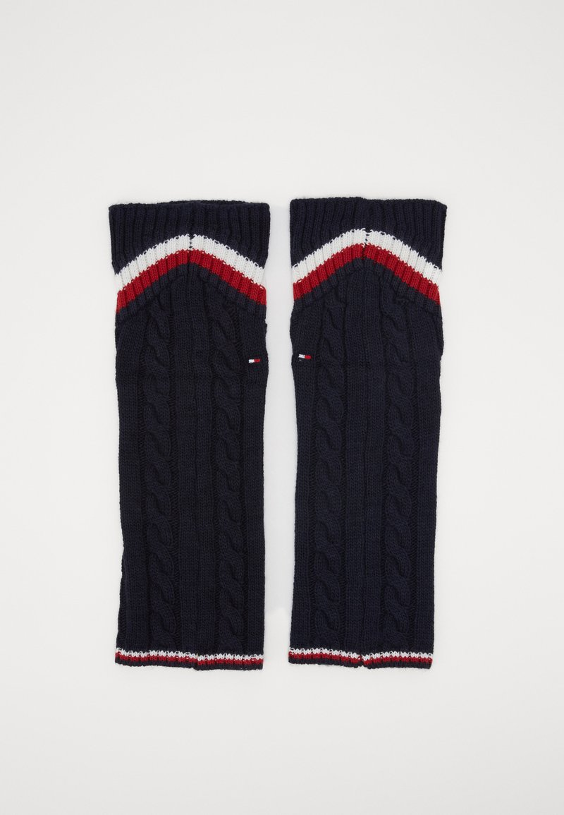 Tommy Hilfiger - LEG WARMERS CABLE - Leg warmers - navy