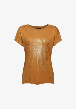 T-shirt imprimé - caramel