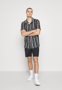 Common Kollectiv - UNISEX STRIPED SHORT SLEEVE BOWL - Shirt - black - 1