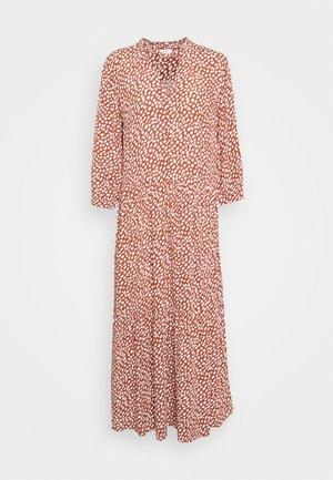 DRESS LENGTH RUFFLE AT WAIST SLEEVE VLOUMNIOUS - Maxi dress - multi/cinnamon brown