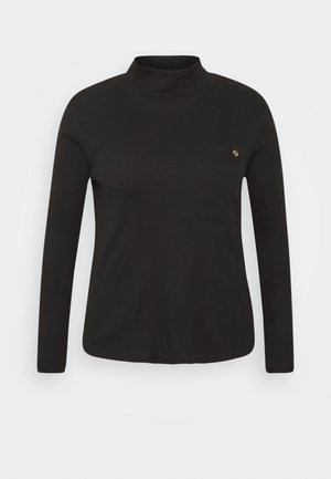 BOXY UTILITY - Langærmede T-shirts - black