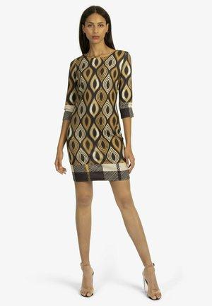 Shirt dress - schwarz-mustard