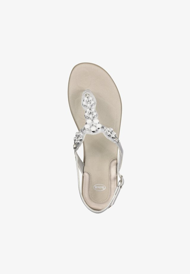 T-bar sandals - silber
