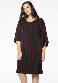 Yoek - Day dress - black/red - 0