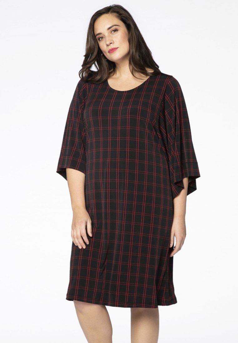 Yoek - Day dress - black/red