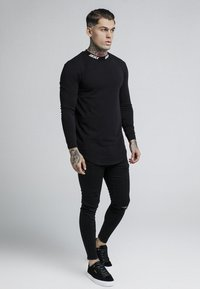 SIKSILK - TURTLE NECK - Camiseta de manga larga - black - 1
