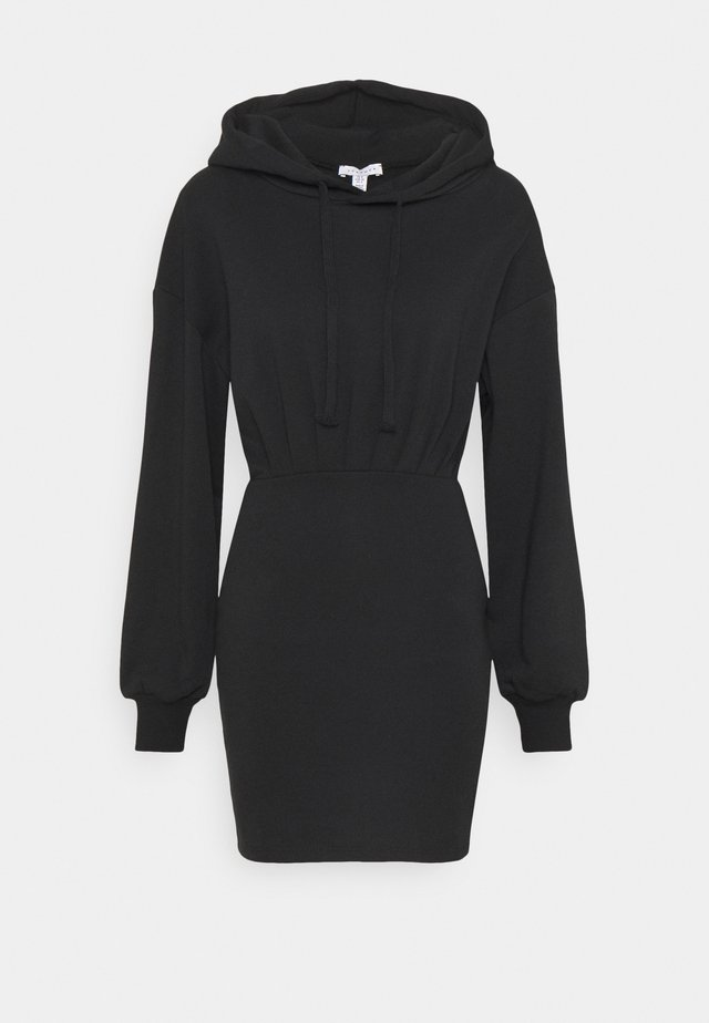 SHORT HOODED DRESS - Sukienka letnia - black