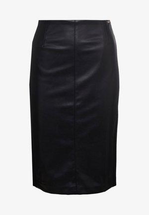 GONNA LONGUETTE - Pouzdrová sukně - nero