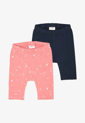 2 PACK - Leggings - Trousers - pink aop/navy