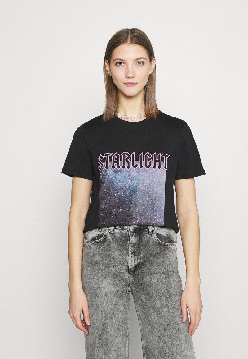 Pieces - PCDREA TEE - Print T-shirt - black