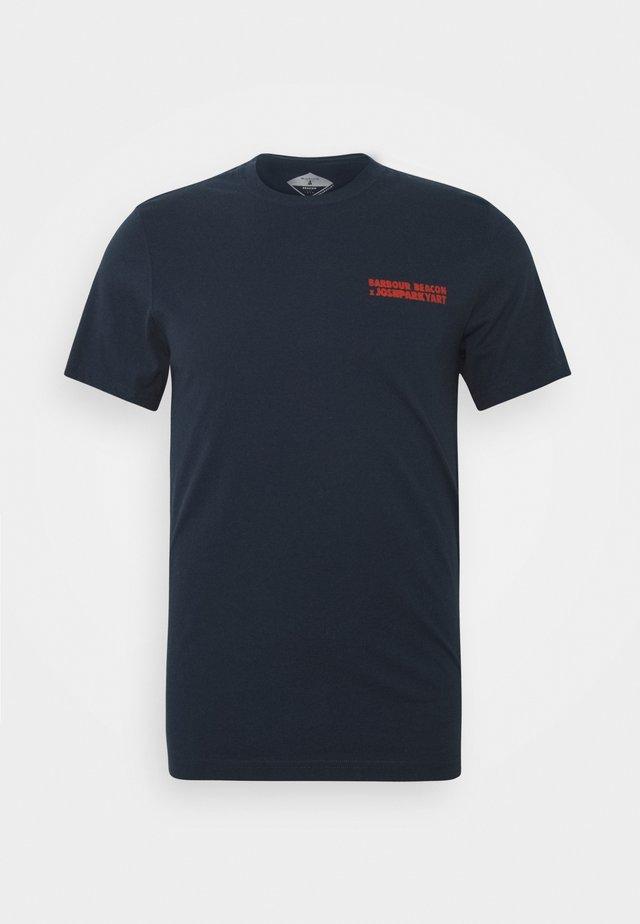 PARKYART TEE - T-shirt print - navy