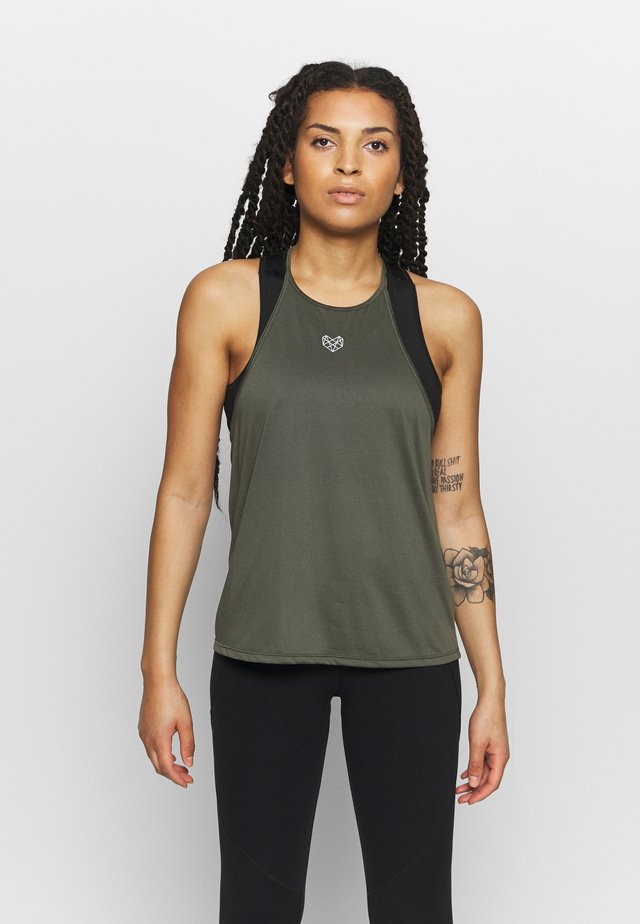 CLARK TANK - Sports shirt - khaki