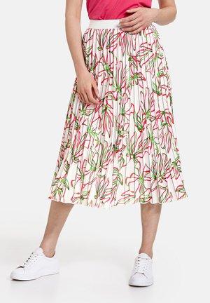 MIT FLORALEM - A-line skirt - weiß azalea palm druck