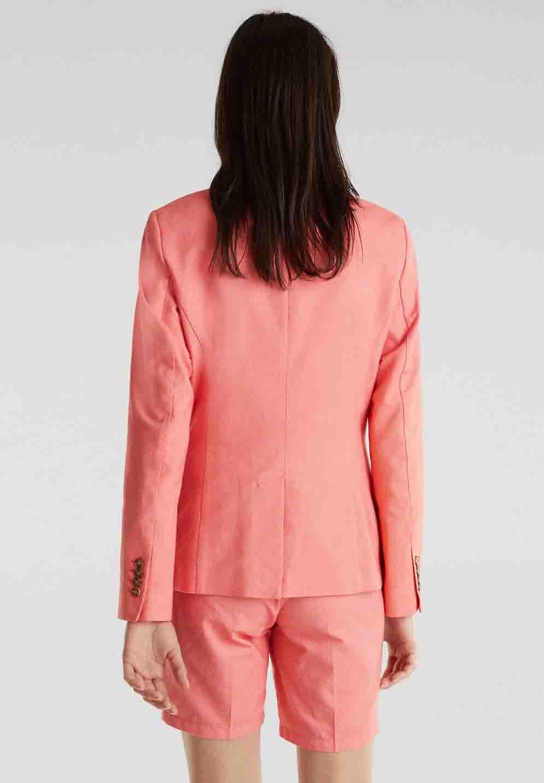 Esprit CHAMBRAY - Blazer - coral - Vestes Femme Le9qu