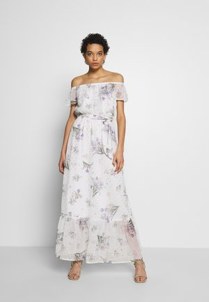 PRINT DRESS - Robe longue - ivory