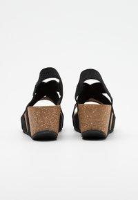 Copenhagen Shoes - STACIA - Sandalias con plataforma - black - 3