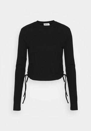DRAWSTRING DETAIL - Långärmad tröja - black
