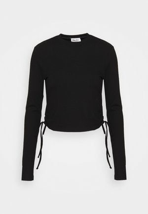 DRAWSTRING DETAIL - Long sleeved top - black