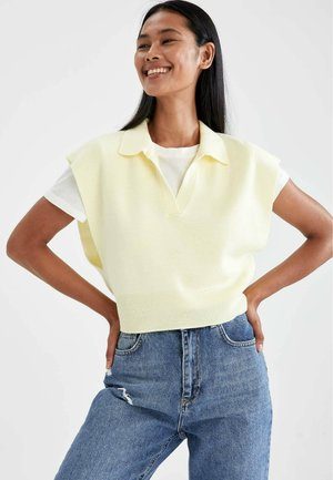 CROPPED FIT - Jumper - yellow
