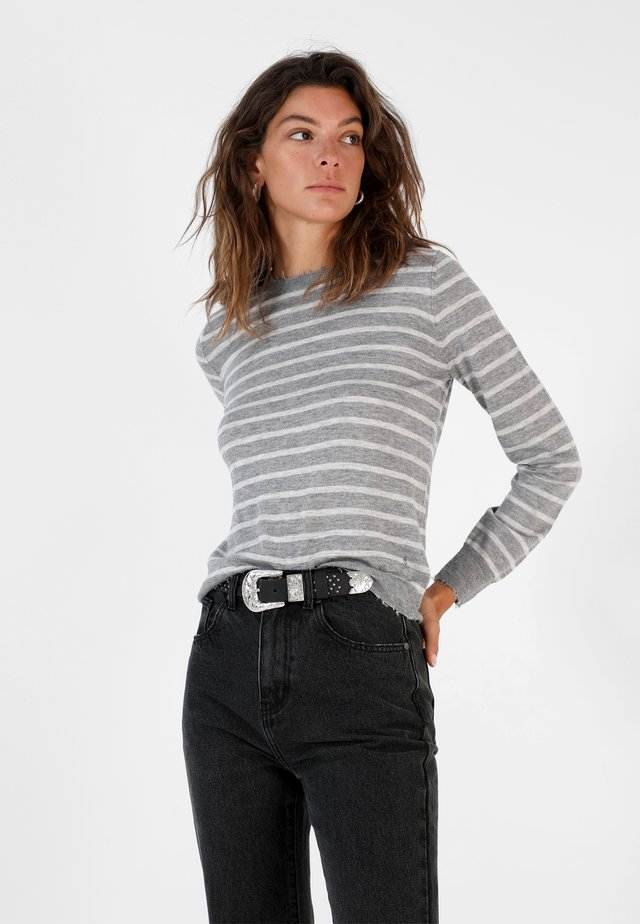 STRIPED  - Jumper - grey
