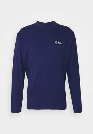 WITH CONTRAST EMBROIDERED LOGO - Long sleeved top - patriot blue