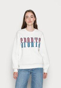 Gina Tricot - RILEY SWEATER - Sweatshirt - off-white/blue - 0