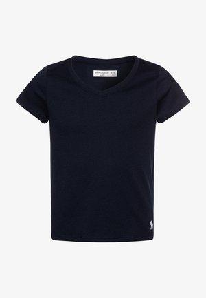 SLIM - Jednoduché triko - navy