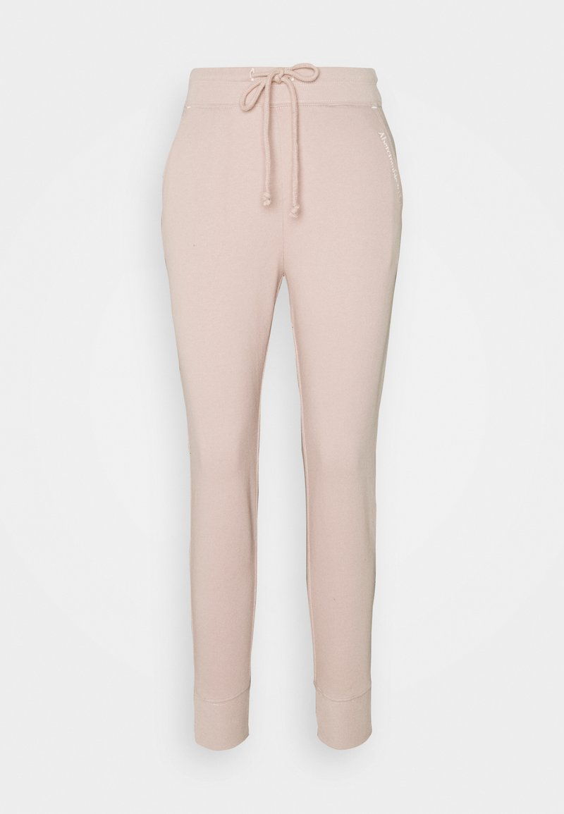 Abercrombie & Fitch - EMBROIDERED LOGO JOGGERS - Tracksuit bottoms - pink