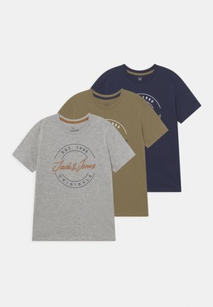 JORJERRY BIG TEE CREW NECK JR 3 PACK - Camiseta estampada - navy blazer