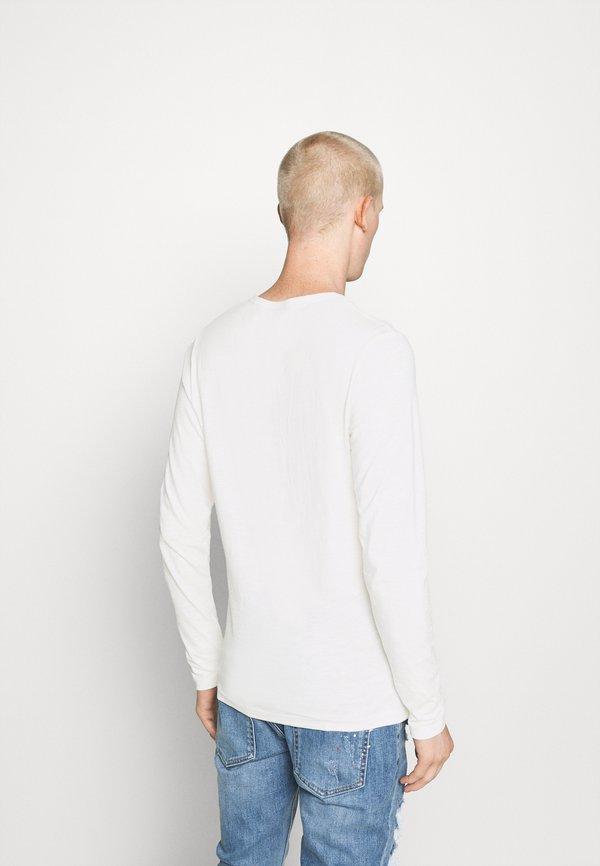 Jack & Jones JJESPLIT NECK TEE - Bluzka z długim rękawem - cloud dancer/biały Odzież Męska PCQK