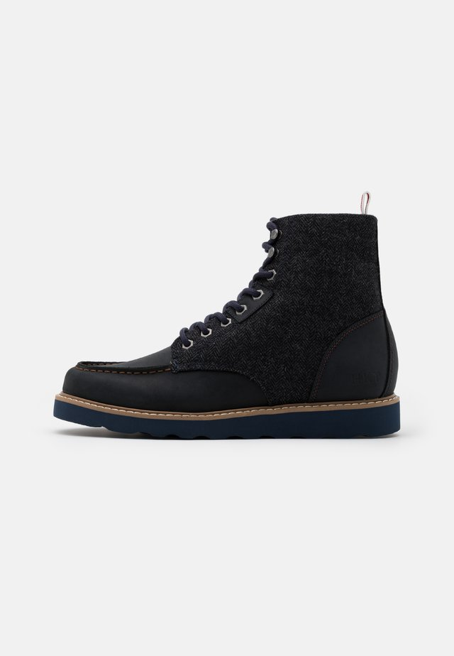 WORK BOOT - Lace-up ankle boots - navy