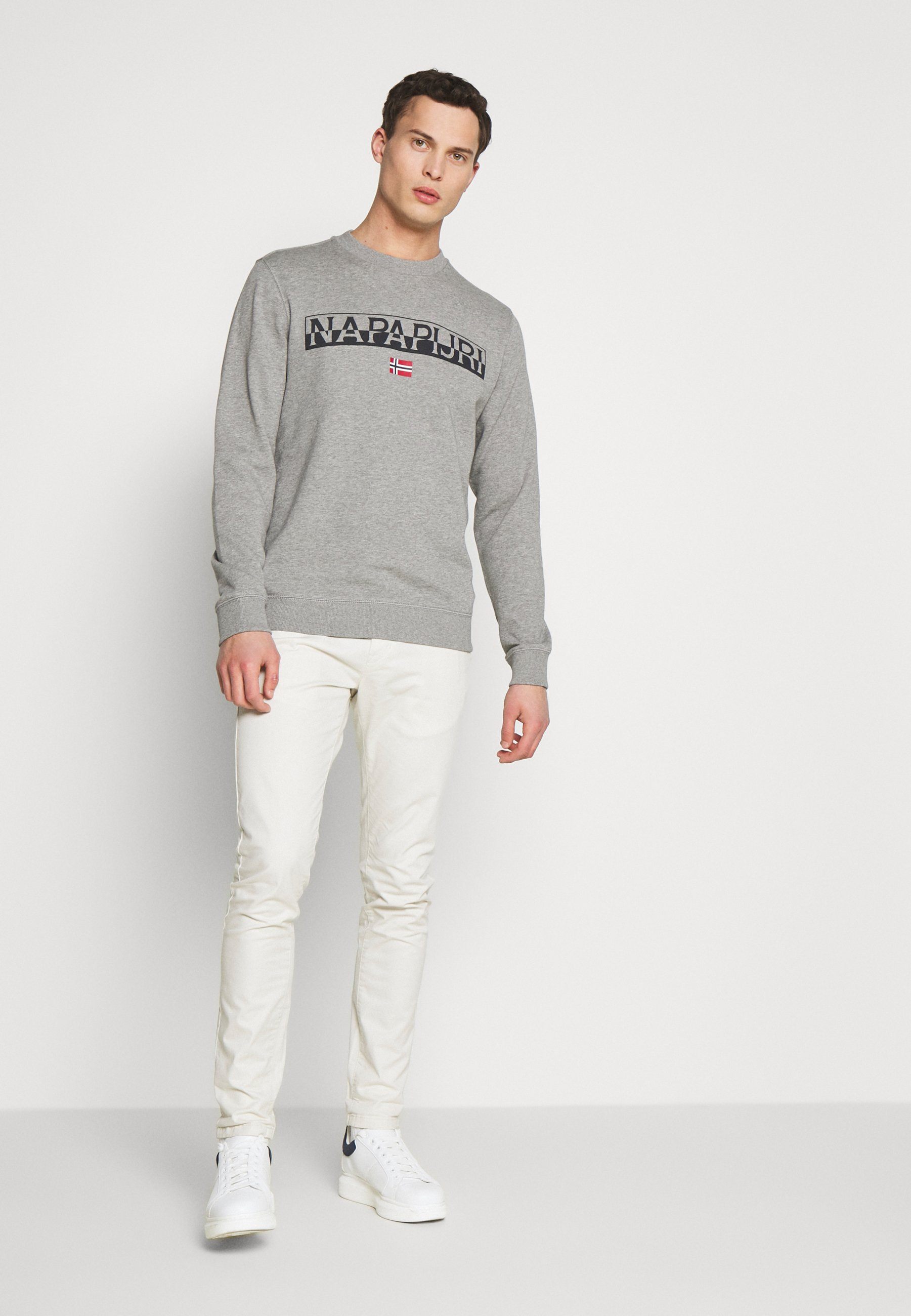 Napapijri BARAS CREW NECK - Sweatshirt - mottled grey