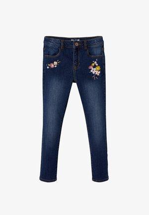 """BESTICKTE  ,,WATERLESS"""", HÜFTWEITE C - Straight leg jeans - dark blue"""