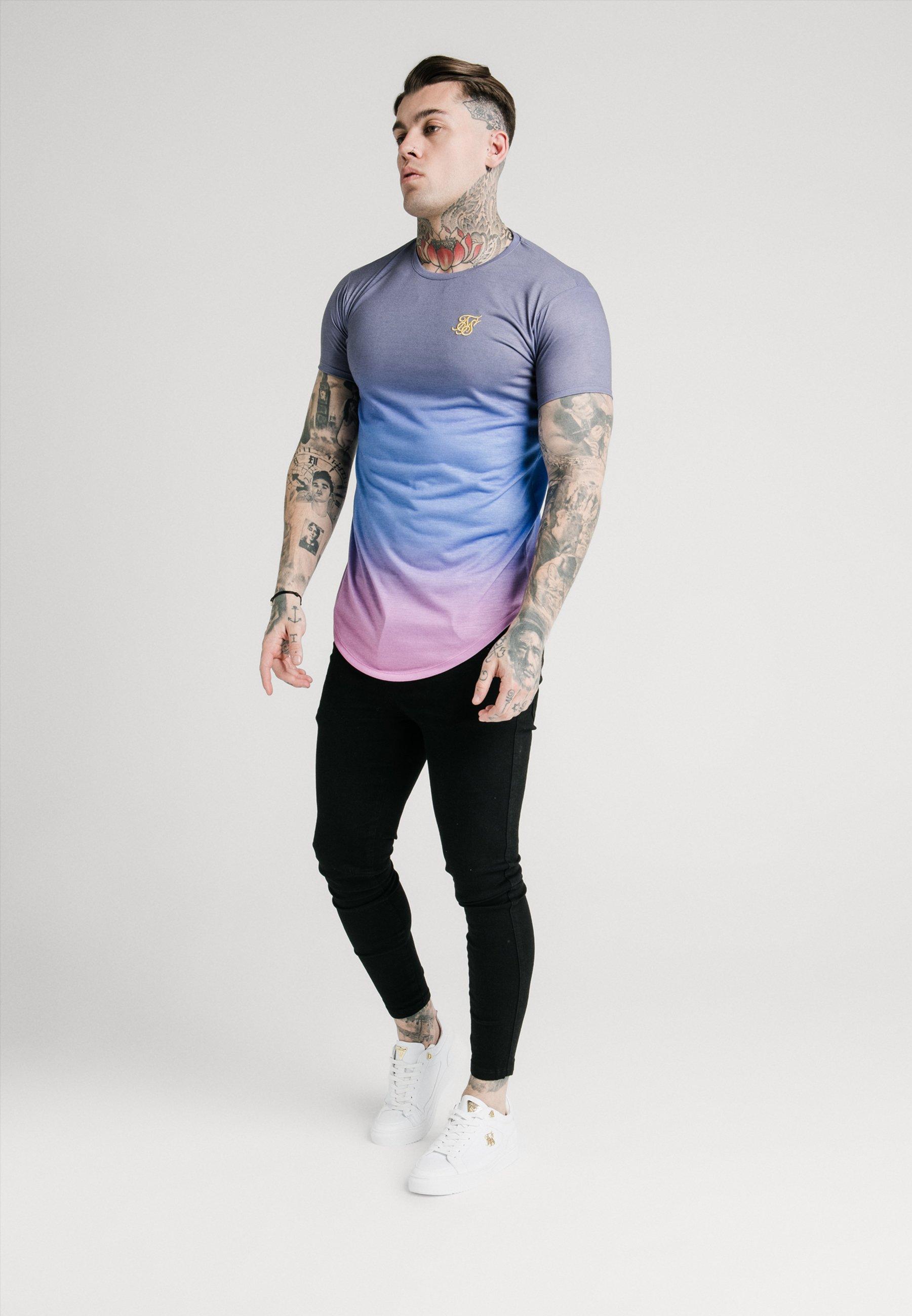 SIKSILK CURVED HEM FADE TEE - T-shirts med print - tri neon
